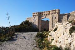 puerta de la fortaleza de la isla de du frioul Imagen de archivo libre de regalías