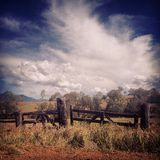 Puerta de la granja Imágenes de archivo libres de regalías