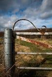 Puerta de la granja que aherrumbra Foto de archivo libre de regalías