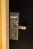 Puerta de la habitación foto de archivo