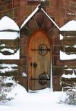 Puerta de la iglesia Imágenes de archivo libres de regalías