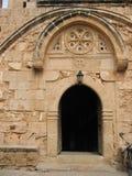 Puerta de la iglesia de Agia Napa Imágenes de archivo libres de regalías