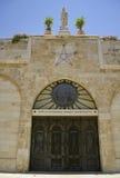Puerta de la iglesia de la natividad imagenes de archivo