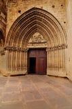 Puerta de la iglesia en Ujue Fotografía de archivo