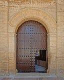 Puerta de la iglesia, España Foto de archivo