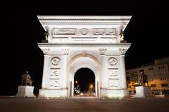 Puerta de la independencia, Skopje fotografía de archivo libre de regalías