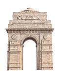 Puerta de la India aislada en blanco imágenes de archivo libres de regalías