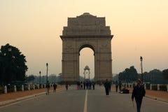 Puerta de la India en Delhi Imagenes de archivo