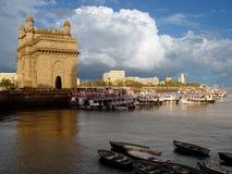 Puerta de la India Mumbai (Bombay) foto de archivo