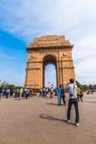Puerta de la India un monumento de guerra en Nueva Deli imágenes de archivo libres de regalías