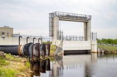 Puerta de la inundación de los marismas Fotos de archivo