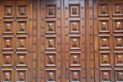 Puerta de la madera Imágenes de archivo libres de regalías