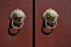 Puerta de la manija Imagen de archivo libre de regalías
