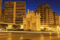 Puerta de la Mar in Valencia Stock Photo