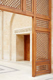 Puerta de la mezquita en Amman, Jordania Imagenes de archivo