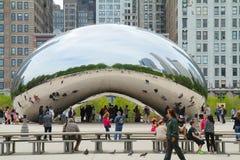 Puerta de la nube la haba en Chicago Imagen de archivo libre de regalías
