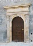 Puerta de la obra clásica del vintage Foto de archivo