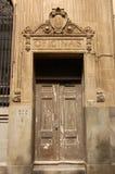 Puerta de la oficina, La Habana vieja, Cuba Foto de archivo libre de regalías