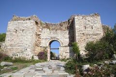 Puerta de la persecución, Ephesus, Turquía Foto de archivo libre de regalías