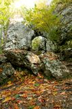 Puerta de la piedra caliza foto de archivo libre de regalías