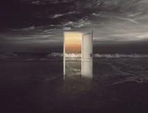 Puerta de la playa foto de archivo libre de regalías
