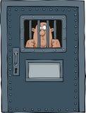 Puerta de la prisión Fotos de archivo