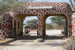 Puerta de la reserva nacional de Samburu Foto de archivo