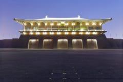 Puerta de la vista daming de la noche del palacio, adobe rgb de Dangfeng Fotografía de archivo