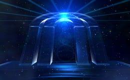 Puerta de las estrellas azules Fotos de archivo