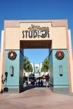 Puerta de los estudios de Disney Hollywood Imágenes de archivo libres de regalías