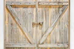 Puerta de madera foto de archivo libre de regalías