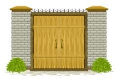 Puerta de madera ilustración del vector