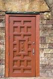 Puerta de madera adornada Imagen de archivo libre de regalías