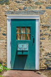 Puerta de madera agradable con la ventana en la nueva esperanza histórica, PA Fotografía de archivo