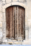 Puerta de madera antigua en ciudad vieja Limassol chipre Foto de archivo