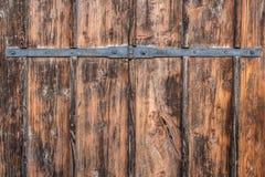 Puerta de madera antigua vieja Imagen de archivo libre de regalías