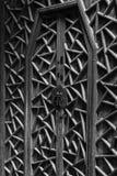 Puerta de madera china antigua Imagenes de archivo