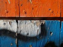 Puerta de madera coloreada imagen de archivo