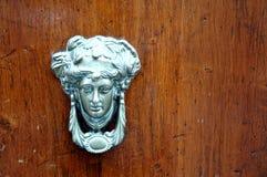 Puerta de madera de Brown Imagen de archivo libre de regalías