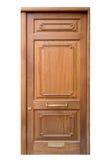 Puerta de madera de la entrada Foto de archivo libre de regalías