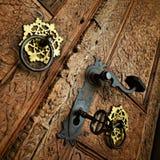Puerta de madera de la vendimia Fotos de archivo libres de regalías