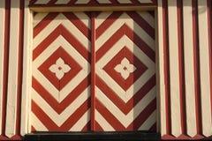 Puerta de madera decorativa hecha a mano Dinamarca Foto de archivo