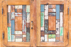 Puerta de madera del art déco Imagenes de archivo