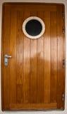 Puerta de madera del barco de cruceros Fotografía de archivo libre de regalías