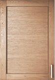 Puerta de madera del guardarropa en cocina Imagen de archivo