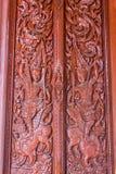 Puerta de madera del ornamento Foto de archivo libre de regalías