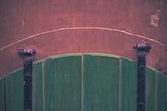 Puerta de madera del sótano Imagen de archivo