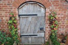 Puerta de madera del vintage Imagen de archivo