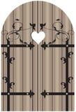 Puerta de madera del vintage Foto de archivo