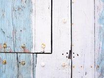 puerta de madera, detalle Fotos de archivo